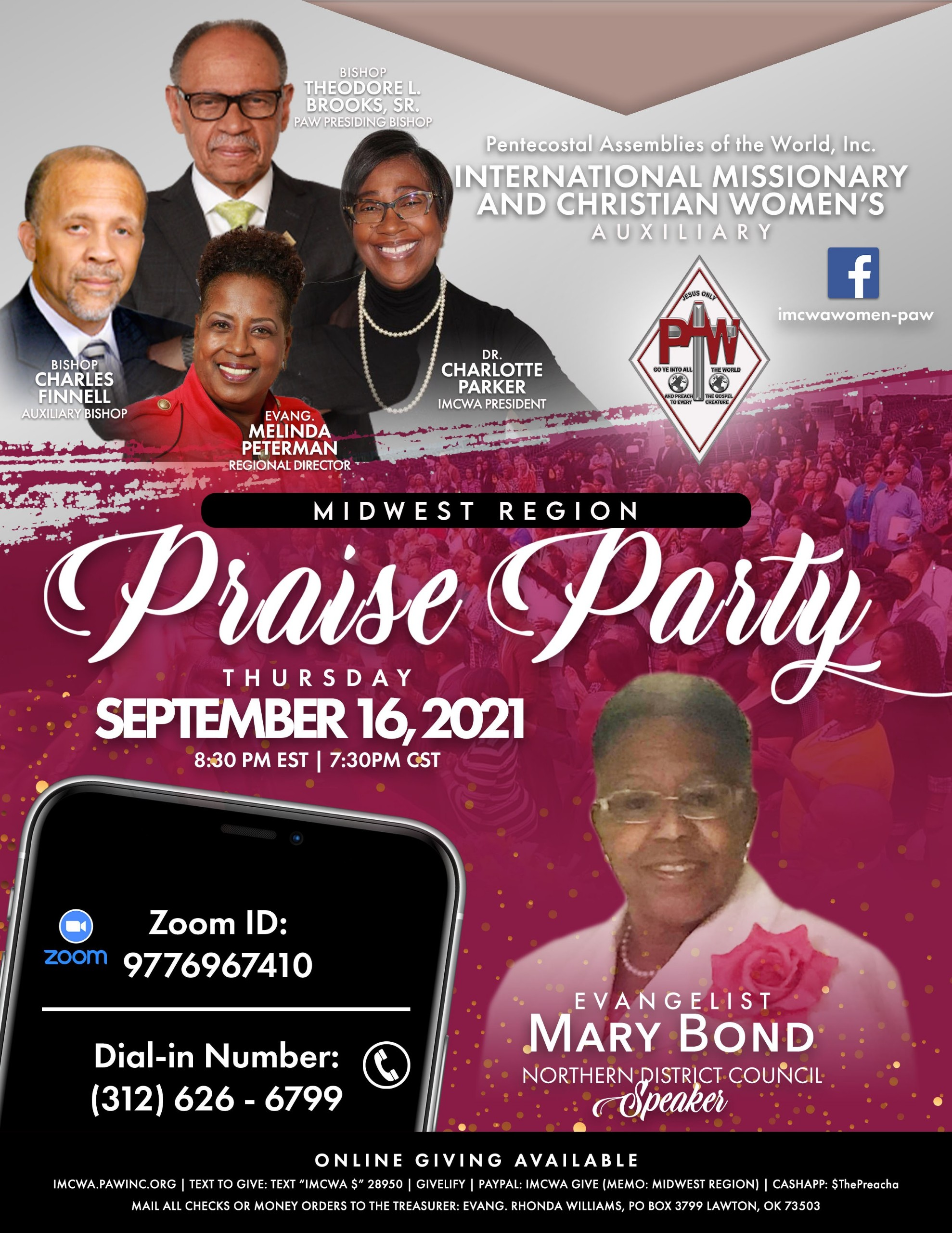 Midwest Praise Party Flyer 09-16-2021